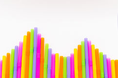 Colorful of drinking straw background Stock Image