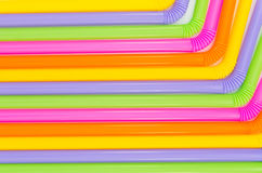 Colorful of drinking straw background Royalty Free Stock Photography