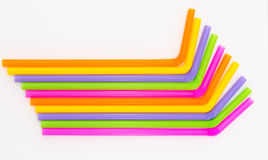 Colorful of drinking straw background Stock Images