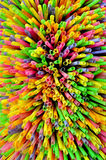 Colorful drinking straw Stock Images