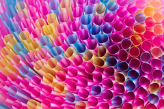 Colorful drinking straws Stock Photography
