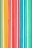 Colorful drinking straws. Close-up background Royalty Free Stock Images