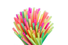 Colorful drinking straws Stock Image