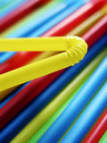 Colorful drinking straws 2 Stock Images