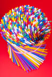 Colorful drinking straws background Royalty Free Stock Photo