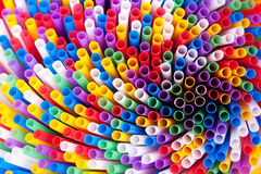 Colorful drinking straws background Royalty Free Stock Images