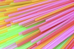 Colorful drinking straws background Royalty Free Stock Photography