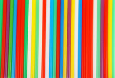Colorful drinking straws the background. Stock Photo