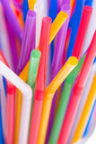Colorful drinking straws background Stock Images