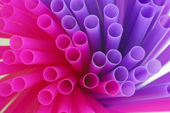 Colorful drinking straws background Royalty Free Stock Image
