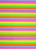 Colorful drinking straws background Stock Photos