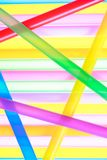 Colorful drinking straws close up background Royalty Free Stock Photos