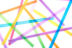 Colorful drinking straws close up background Stock Photography