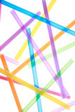 Colorful drinking straws close up background Royalty Free Stock Images