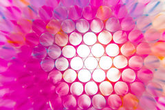 Colorful drinking straws close-up background Royalty Free Stock Photos
