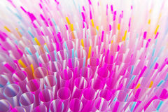 Colorful drinking straws close-up background Stock Image
