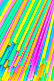 Colorful drinking straws close-up background, colorful plastic Royalty Free Stock Image