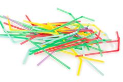 Colorful drinking straws royalty free stock images