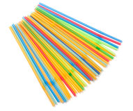 Colorful drinking straws isolated on white background Royalty Free Stock Image