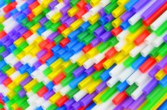 Colorful drinking straws Royalty Free Stock Photos