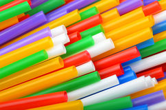 Colorful drinking straws Stock Photos