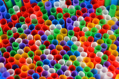 Colorful drinking straws Royalty Free Stock Image