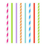 Colorful drinking straws. Set of colorful drinking straws illustration Stock Photos
