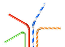 Colorful drinking straws set Royalty Free Stock Photography