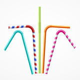 Colorful Drinking Straws Set. Vector Royalty Free Stock Images