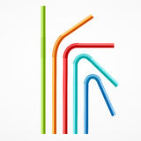 Colorful Drinking Straws Set. Vector Stock Photo