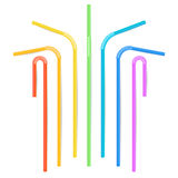Colorful Drinking Straws Vector. Different Types. Plastic Straight And Curved. For Celebration Background Design, Cocktail Party M. Colorful Drinking Straws Royalty Free Stock Photos