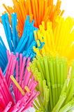 Colorful drinking straws on white background Stock Photo