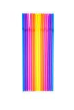 Colorful drinking straws on a white. Background Stock Images