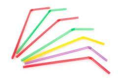 Colorful drinking straws Stock Photo