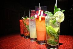 Colorful drinks Stock Photo