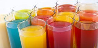 Colorful drinks Royalty Free Stock Photos