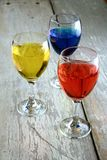 Colorful Drinks in goblets Stock Image
