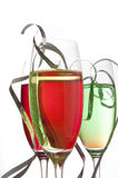 Colorful drinks with streamers Stock Image
