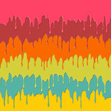Colorful dripping paint Stock Images