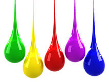 Colorful drops royalty free illustration