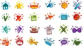 Colorful drops icons Stock Photography