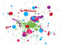 Colorful drops of paint Royalty Free Stock Photos