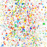 Colorful drops of paint Royalty Free Stock Image