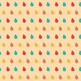 Colorful drops seamless pattern. Royalty Free Stock Image