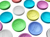Colorful drug Stock Image