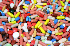 Colorful drugs Stock Photography