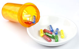 Colorful drugs Stock Photo
