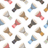 Colorful drum seamless pattern. Musical instruments Royalty Free Stock Photos
