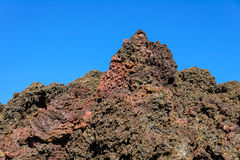 Colorful dry lava formation in the Piton de la Fournaise volcano Royalty Free Stock Image