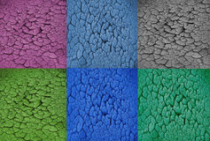 Colorful with dry soil texture background Royalty Free Stock Photography